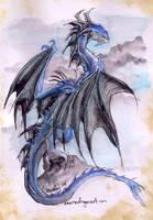 quick blue dragon by drakhenliche