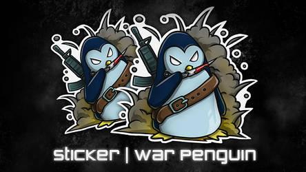 Sticker | War Penguin by Silver-Fate