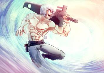 Shirtless Ninja : Suigetsu Hozuki by goyong