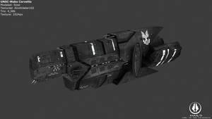 UNSC Mako Corvette by Annihilater102