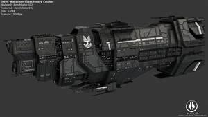 UNSC Marathon Class Heavy Cruiser by Annihilater102