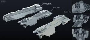 UNSC Phoenix Class Ships WIP by Annihilater102