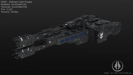 UNSC Stalwart Light Frigate by Annihilater102