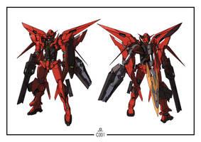 C001 - Gundam Exia Nemesis Raider by orihalchon