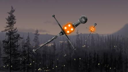 Last Flight Over the Forest Moon by josh-eeewwa