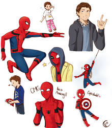 Spiderman Homecoming doodles by Tsubaki977
