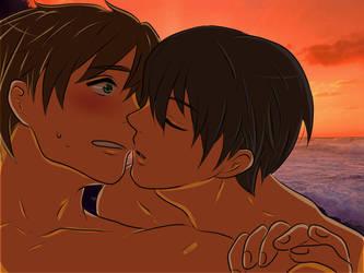 sunset- Haruka and Makoto by x-Sneering-Blaze-x