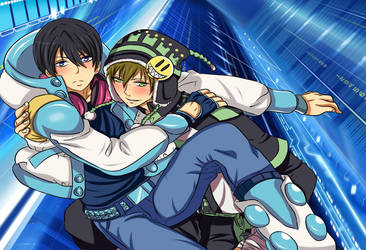 Free! x DRAMAtical Murder crossover- Makoto x Haru by x-Sneering-Blaze-x