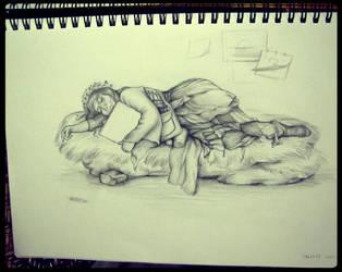 fairy painter is sleeping by wsxroro1231