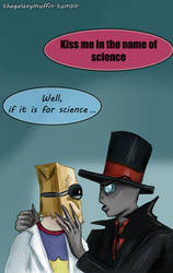 Day 8: In The Name Of Science (first kiss promp) by thegalaxymuffin