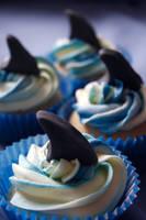 Shark Cupcakes by behindthesofa