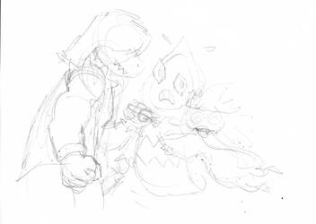 Ralsei vs Susie Pencils by no1marmadukefan