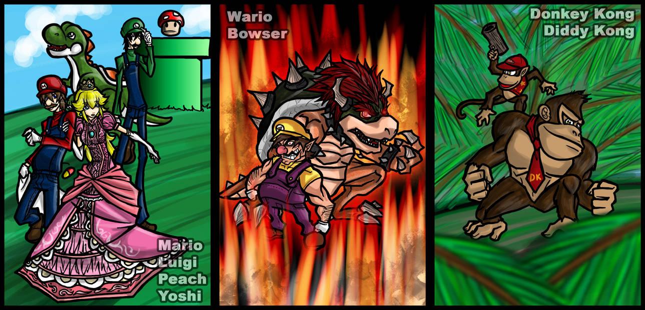 SSB: Super Mario Stars by Kiarou