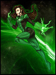 Legend of Korra: Green Lantern Asami by Kiarou