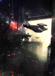 Cyberpunk City Hanger Tutorial by amirzand