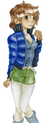 Skyblue jacket girl by SolarSystemInc