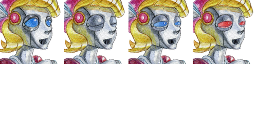 Robot girl face set by SolarSystemInc