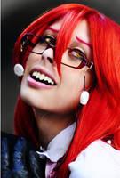 Grell Kuroshitsuji cosplay red by KiraYoshida