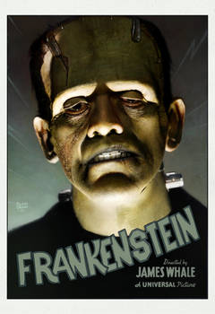frankenstein digital painting by ryanbrown-colour