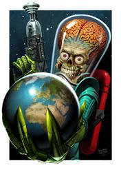 mars attacks cover for idw by ryanbrown-colour