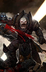 gears of war cover  1 by ryanbrown-colour