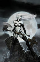 lady death painting by ryanbrown-colour