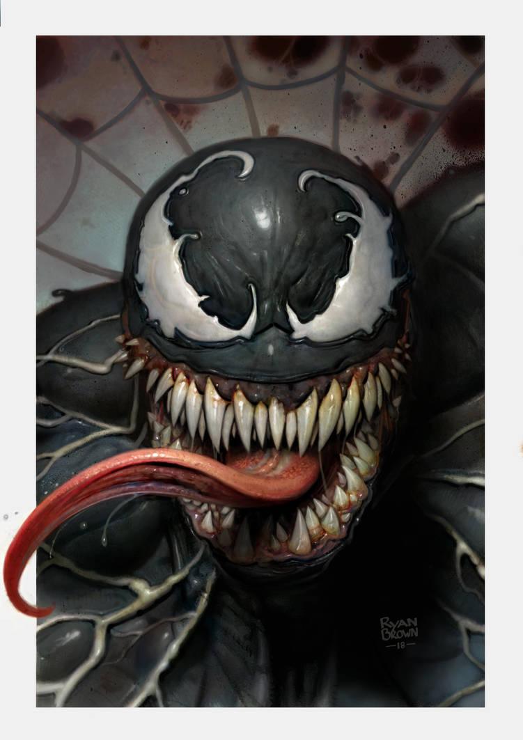 Venom pinup by ryanbrown-colour