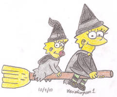 Witch Lisa and Maggie by MarioSimpson1