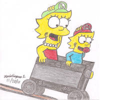 Lisa and Maggie's Mine Cart by MarioSimpson1