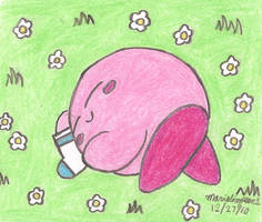 Kirby's Special Patch Sock by MarioSimpson1