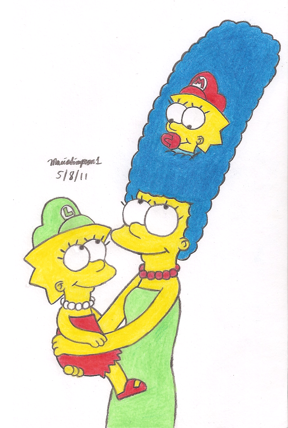 Marge's Two Daughters by MarioSimpson1