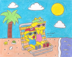 Day at the Beach by MarioSimpson1