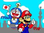 Mario and Doraemon by MarioSimpson1