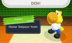 Homer Simpson Yoshi by MarioSimpson1