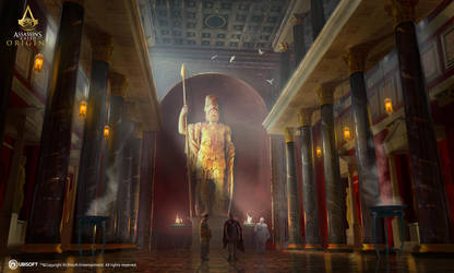 AC: Origins - Temple of Mars - Interior by didoneto