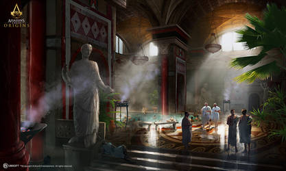AC: Origins - Roman Bath - Interior by didoneto