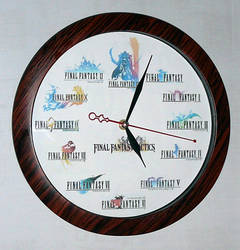 Final Fantasy Clock by SOLDIER-Cloud-Strife