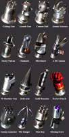 FF7 Barret's Weapons by SOLDIER-Cloud-Strife