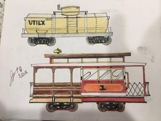 Railway doodles by FiremanHippie