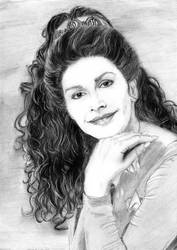Old Drawing of Deanna Troi by khinson