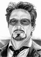 Tony Stark Sketch Card 5-23-2014 by khinson