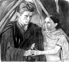 Anakin and Padme by khinson