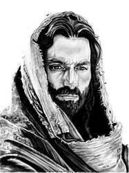 Jim Caviezel as Jesus by khinson