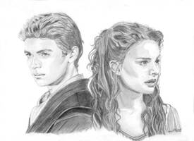 Padme and Anakin by khinson