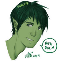 Beastboy Bust by shock777