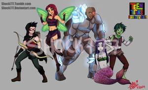 Teen Titans Fantasy AU by shock777