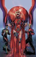 Supergirl Red Lantern 1 by battle810