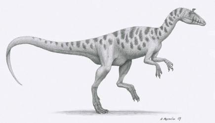 Cryolophosaurus elliotti by BrokenMachine86