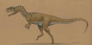 Monolophosaurus jiangi by BrokenMachine86