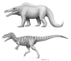 Megalosaurus, past and present by BrokenMachine86